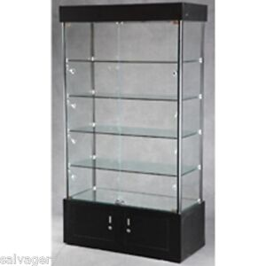 Retail Merchandise Jewelry Glass Tower Display Case