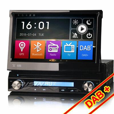 1DIN Coche GPS Navegación Autoradio Mit Navi Pantalla Táctil Bluetooth DAB SD CD