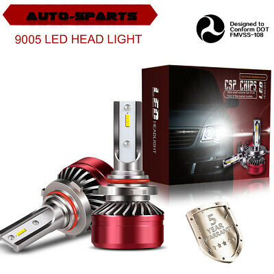 9005 9145 H10 CSP LED High Beam Fog Light Conversion Kit 6500K White 60W