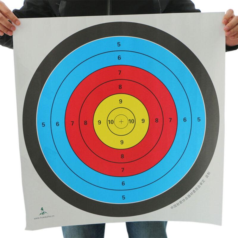 10Pcs Useful Pro Shooting Target Paper Archery Targets Bow Arrow Gauge Fashi HK