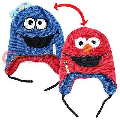 Cookie Monster Hat (Sesame Street Elmo and Cookie Monster Reversible Licensed Laplander Beanie Hat)