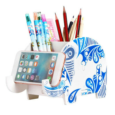 Indian Elephant Pencil Holder Desk Supplies Organizer Office Storage Rack Frame