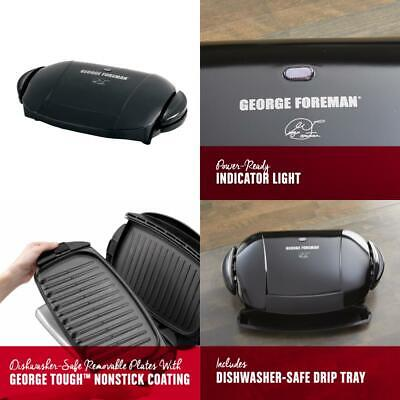 George Foreman 5-Serving Removable Plate Electric Indoor Grill and Panini... ()