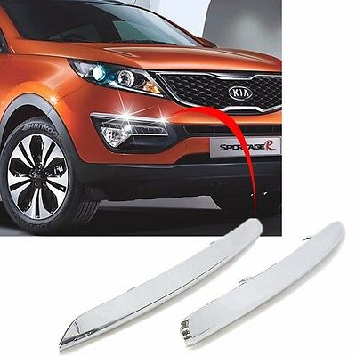 OEM Chrome Front Bumper Eyeline Trim Garnish For 2011 2015  Kia Sportage