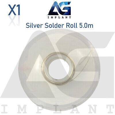 0.5mm Silver Solder Wire Roll 5m Orthodontic Dental Bands Soldering Welding