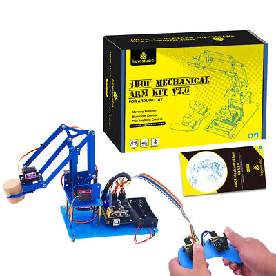 Keyestudio 4dof Coding Robotics Metal Robot Arm Diy Starter Kit V2.0 For Arduino