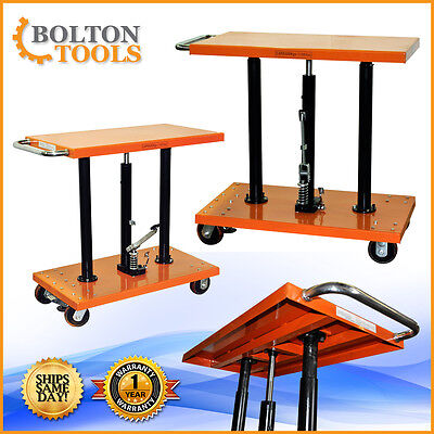Material Handling 1100 Lb Center Post Hydraulic Lift Table Cart Pt-10-2036