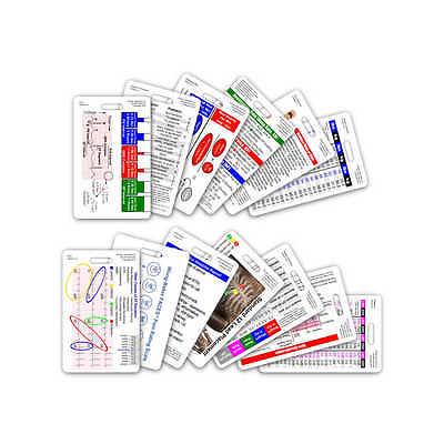Complete Ems Vertical Badge Card Set - 13 Cards - Reference Card Emt Paramedic