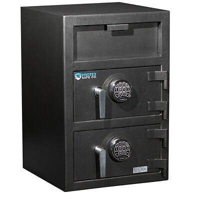 - Protex Large Dual-Door Front Loading Depository Drop Safe Electronic FDD-3020