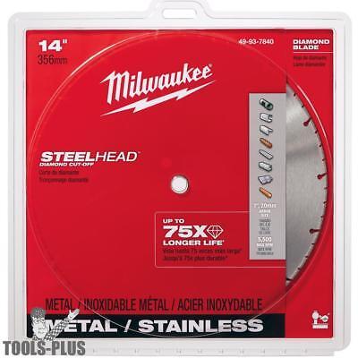 Milwaukee 49-93-7840 14 Steelhead Diamond Metal Cut-off Blade 5500rpm New