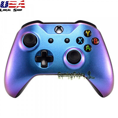 Purple Blue Chameleon Housing Shell Cover for Xbox One S One X Remote Controller