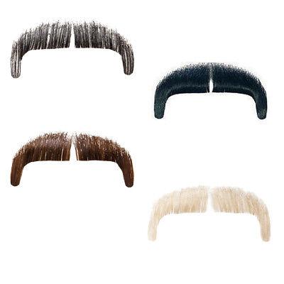 Echthaar Bart (Echthaar Bart Gangsterbart, ideal für Kostüme und Verkleidungen, versch. Farben)