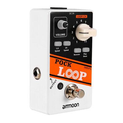 POCK LOOP Guitar Effect Pedal 11 Loopers Max.330 Mins Unlimited Dub Tracks C4Q9