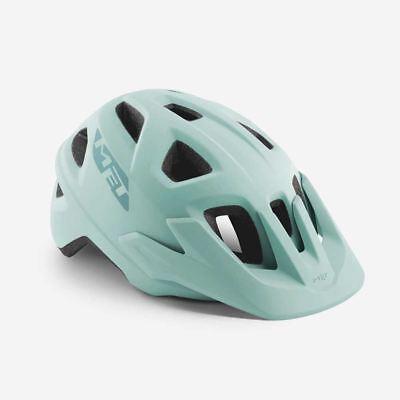 Bicicleta de Montaña Ciclo de Casco Met Echo Cielo Gris Menta Mate...