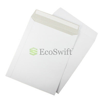 20 - 9.75 X 12.25 Self Seal White Photo Ship Flats Cardboard Envelope Mailers