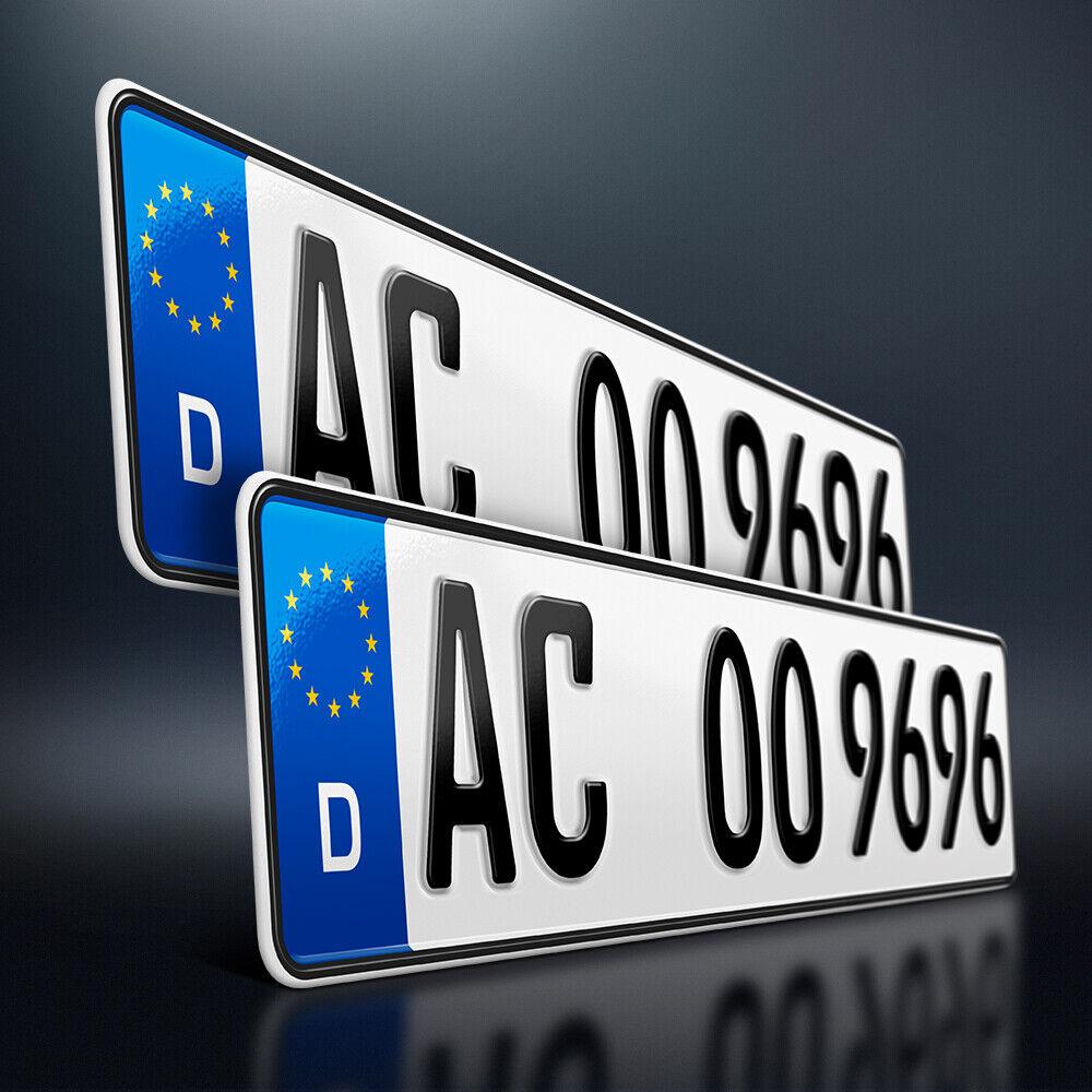 2 Kfz Kennzeichen | 520 x 110mm | Nummernschild | Autokennzeichen | DHL-Versand
