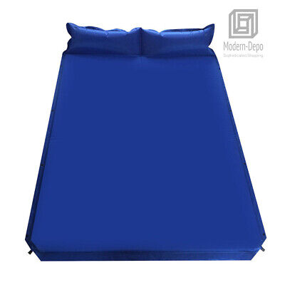 Outdoor Camping Self-Inflating Air Mat Mattress Pad Pillow H