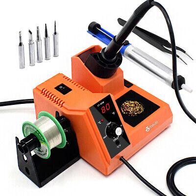 80w Rework Soldering Station Iron Kit Variable Temperature Solder Repair Tool Us