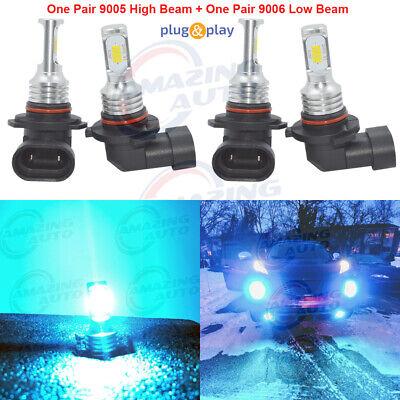 9005+9006 Combo LED Headlight Bulb High&Low Beam Performance 35W 8000K Ice Blue