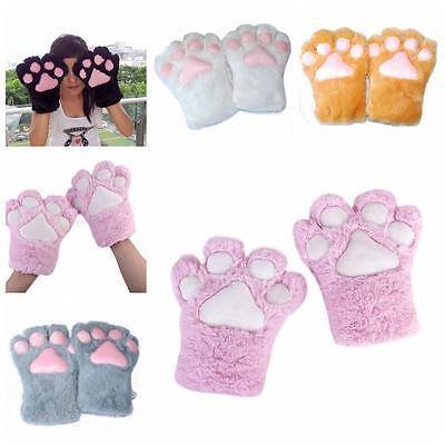 Party Halloween Gloves Plush Cat Kitten Paw Cosplay Costume ()