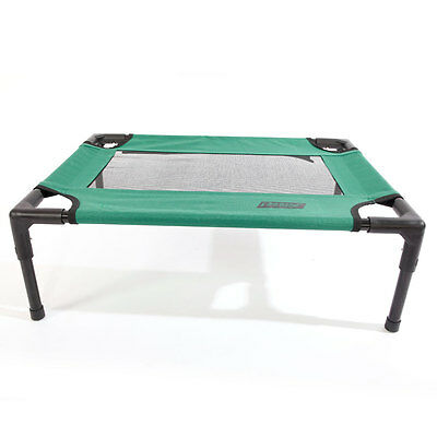 Green Petcomer Dog Cat Bed Elevated Indoor Outdoor Camping Steel Frame Mat S