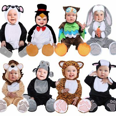 Halloween Toddler Infant Baby Animals Tiger Lion Panda Bunny Owl Penguin Costume - Infant Bunny Halloween Costume