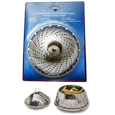 Collapsible Stainless Steal Food Steamer Basket Cooker Cooki