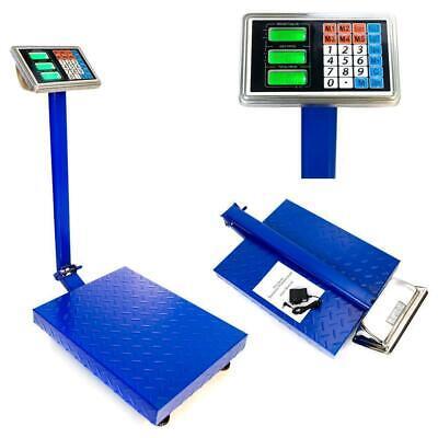 600lb Digital Price Computing Scale Floor Platform Ship Warehouse Postal 300kg