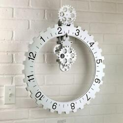 The Hands Free Gear Clock Moving Gears Sprocket Industrial Style Wall Mountable