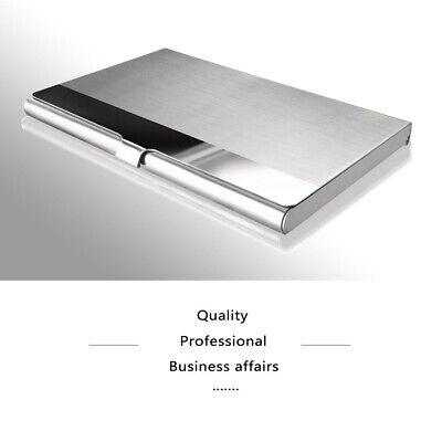 Pocket Stainless Steelmetal Business Card Holder Case Id Credit Wallet 9258mm