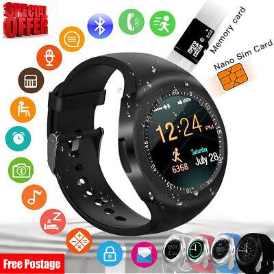 Bluetooth Smartwatch Sport Armbanduhr Schrittzähler Wasserdicht SIM MP3
