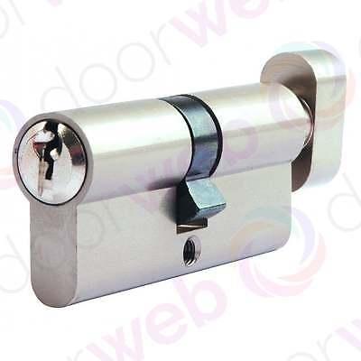EURO CYLINDER Thumb Turn Lock Barrel Door Aluminium Security UPVC 5 Pin T35/35