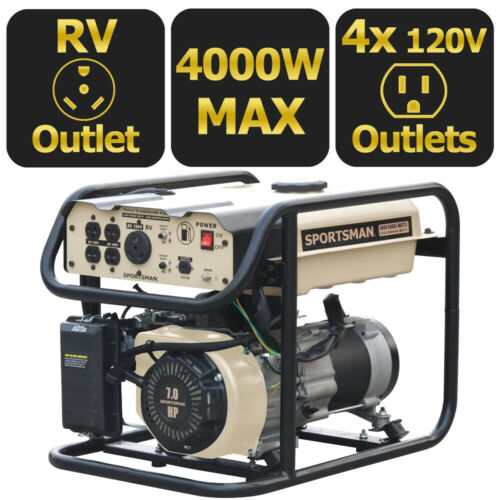 Sportsman 4000-W 7HP Portable Gas Powered RV Ready Generator Home Backup Camping