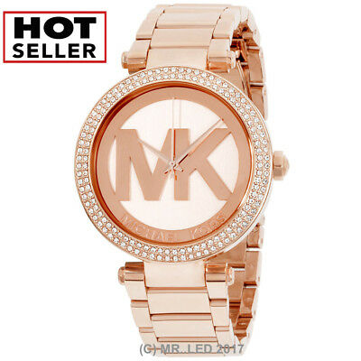 New Michael Kors Womens Parker Mk5865 Rose Gold Stainless Steel Fashion Watch