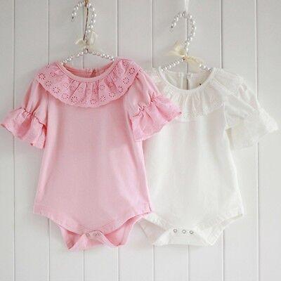 One Infant Bodysuit (USA Toddler Baby Girl Lace Bodysuit One Piece Romper Jumpsuit Outfits Clothes )