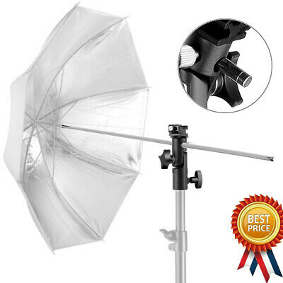 NEW Camera Umbrella Holder Flash Speedlite Mount Adjustable Swivel Light Stand