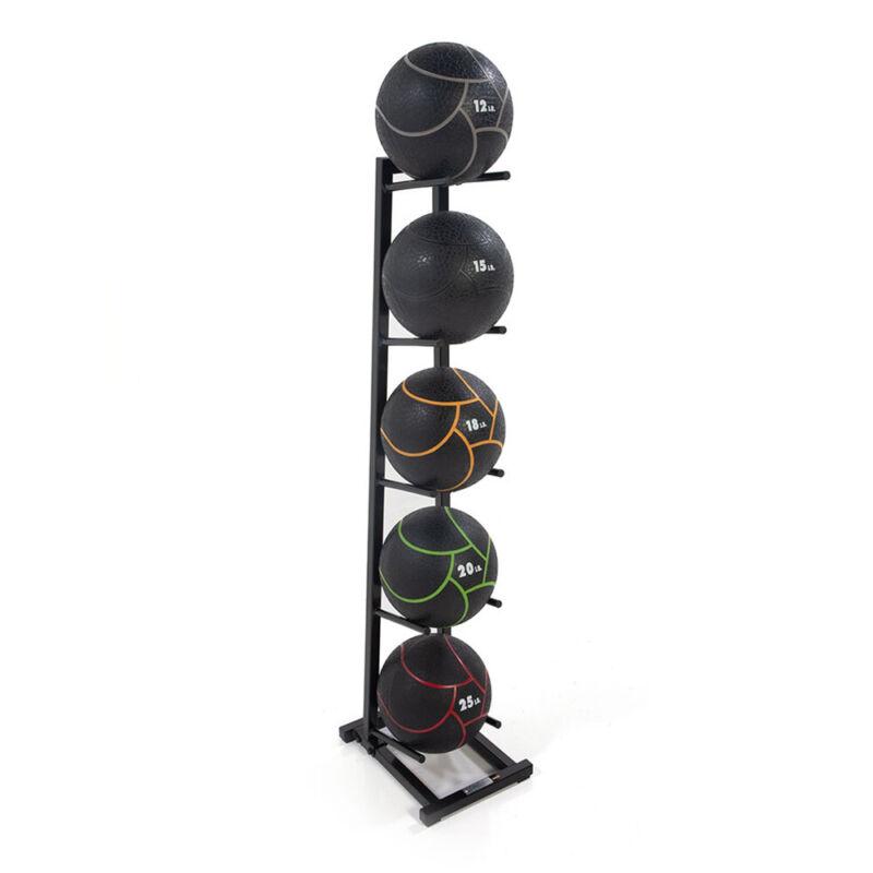 Power Systems Medicine Ball Tree Rack for 5 Standard Size Balls, Black(Open Box)