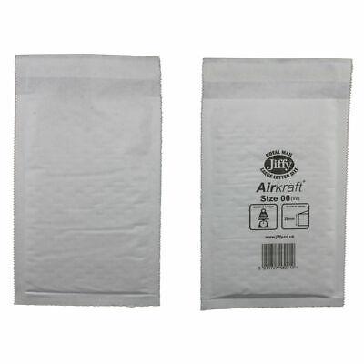 100x Genuine Jiffy Airkraft White Padded Bubble Envelopes Postal Bag 115mmx195mm