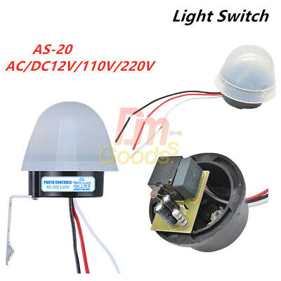 Ac Dc 12v110-220v Sensor Switch Auto On Off Photocell Street Light Photo As-20