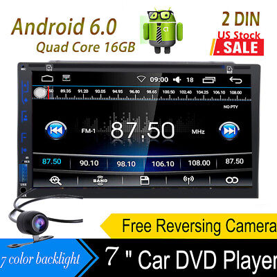 2018 New Android HD WiFi 2Din Car Head Unit Stereo Radio DVD Player GPS Navi+Cam