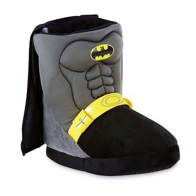 BATMAN DC COMICS Plush Boot Costume Slippers w/ Cape Sz. 7-8, 9-10, 11-12 & 2-3