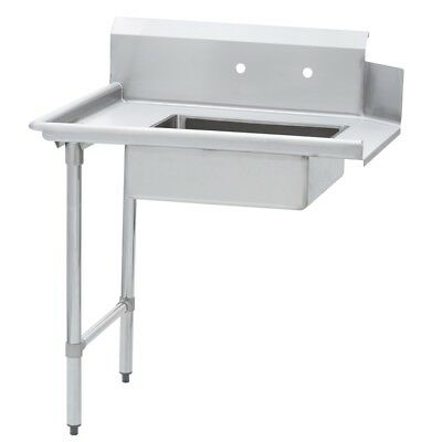Commercial Kitchen Stainless Steel Soiled Dish Table Left Side 30 X 48 Ss