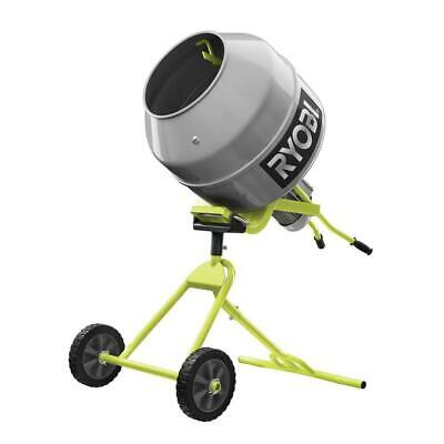 Ryobi Portable Concrete Mixer 5.0 Cu. Ft. Durable 12 Hp Direct Drive Motor