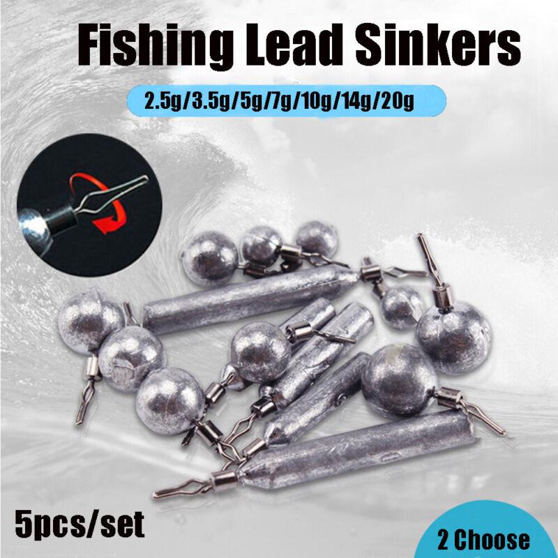 Bass 360 Degree Rotatable Drop Shot Fishing Tackle Ball Bearing Lead Sinker