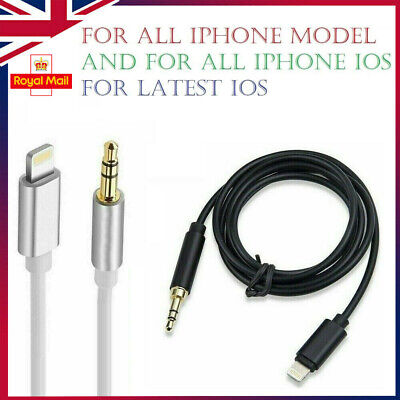 Lightning to 3.5mm Jack Car Audio AUX Lead Cable for iPhone 7 8 X XR XS 11 iOS12