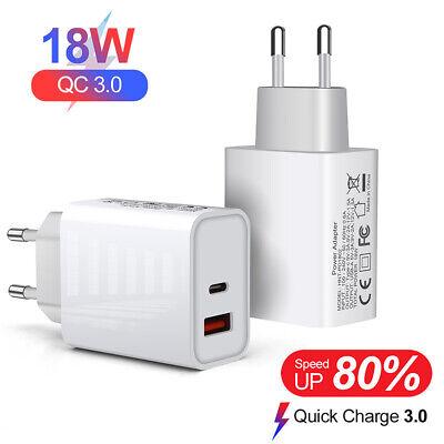 QC 3.0 Quick 18W PD Typ-C USB Wandladegerät Netzteil EU US UK Stecker Ladegerät