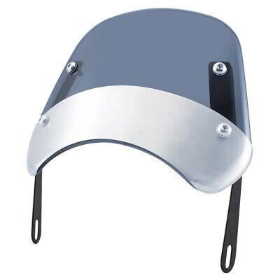 5-7'' Motorcycle Round Headlight Windshield Fairing Windscreen Smoke Universal