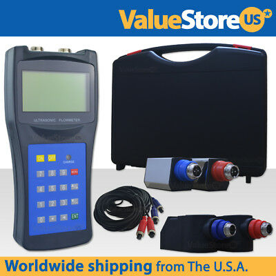Ultrasonic Flow Meter With Transducers Portable Flowmeter Usf-100
