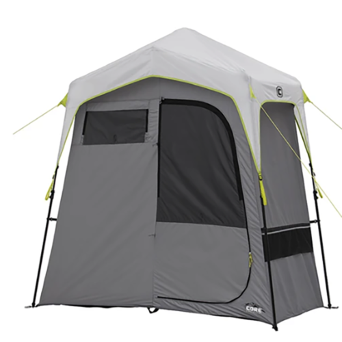 CORE Instant Camping Utility Shower Tent with Changing Room