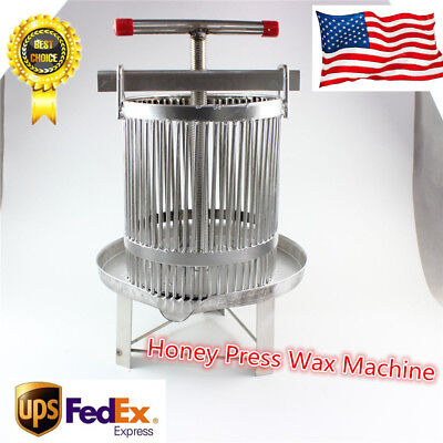 Manual Bee Honey Combo Stainless Steel Press Tool Honey Press Wax Press Machine